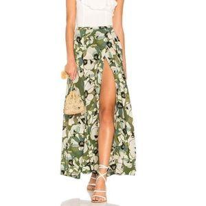 Free People maxi skirt, long bohemian slit floral